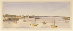 'The River Taptee, Surat, from the Fort'